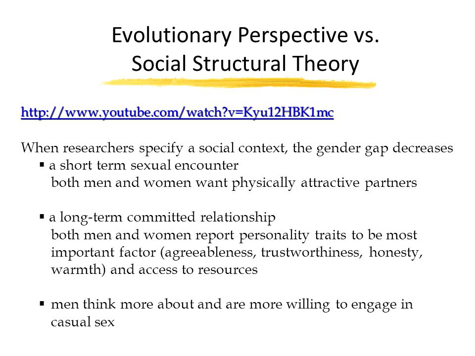 Evolutionary Perspective vs. Social Structural Theory
