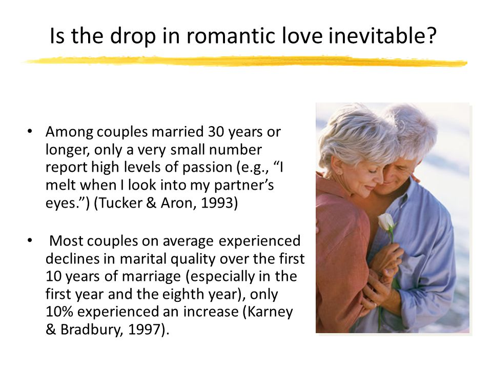 Is the drop in romantic love inevitable
