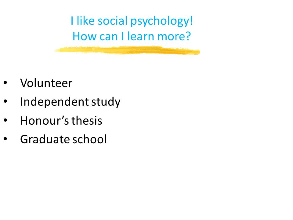 I like social psychology! How can I learn more