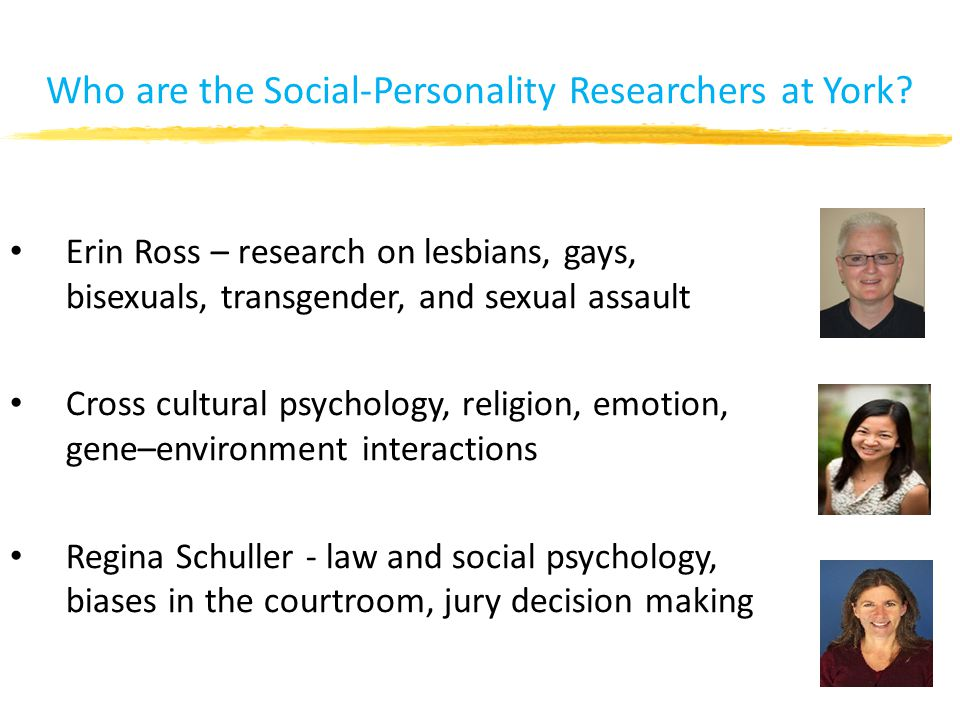 Who are the Social-Personality Researchers at York