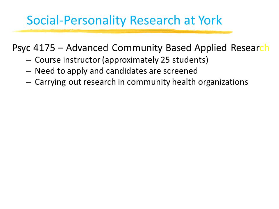 Social-Personality Research at York