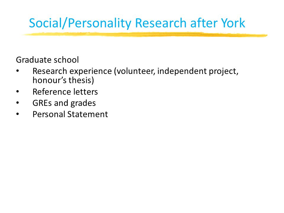 Social/Personality Research after York