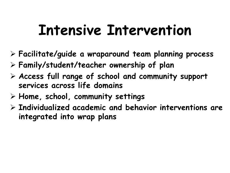 Intensive Intervention
