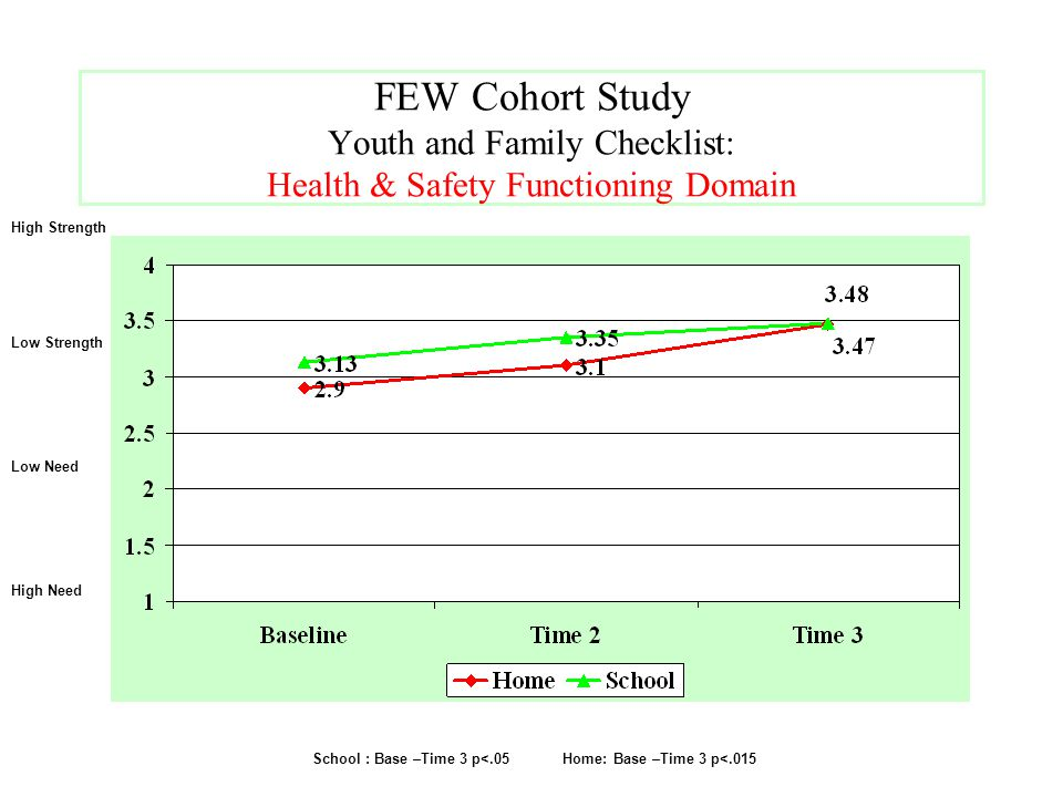 FEW Cohort Study Youth and Family Checklist: Health & Safety Functioning Domain
