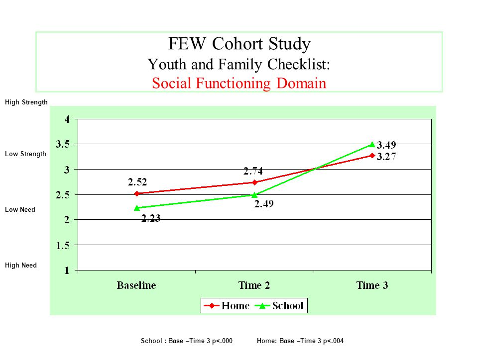 FEW Cohort Study Youth and Family Checklist: Social Functioning Domain