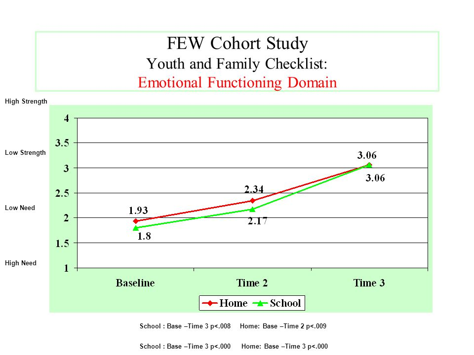 FEW Cohort Study Youth and Family Checklist: Emotional Functioning Domain