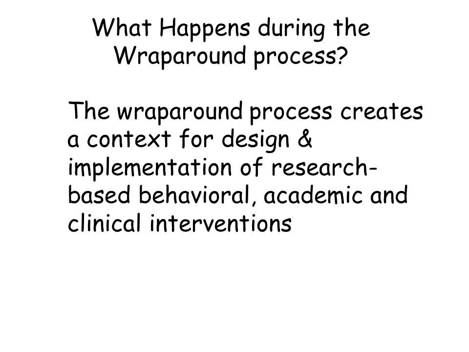 What Happens during the Wraparound process