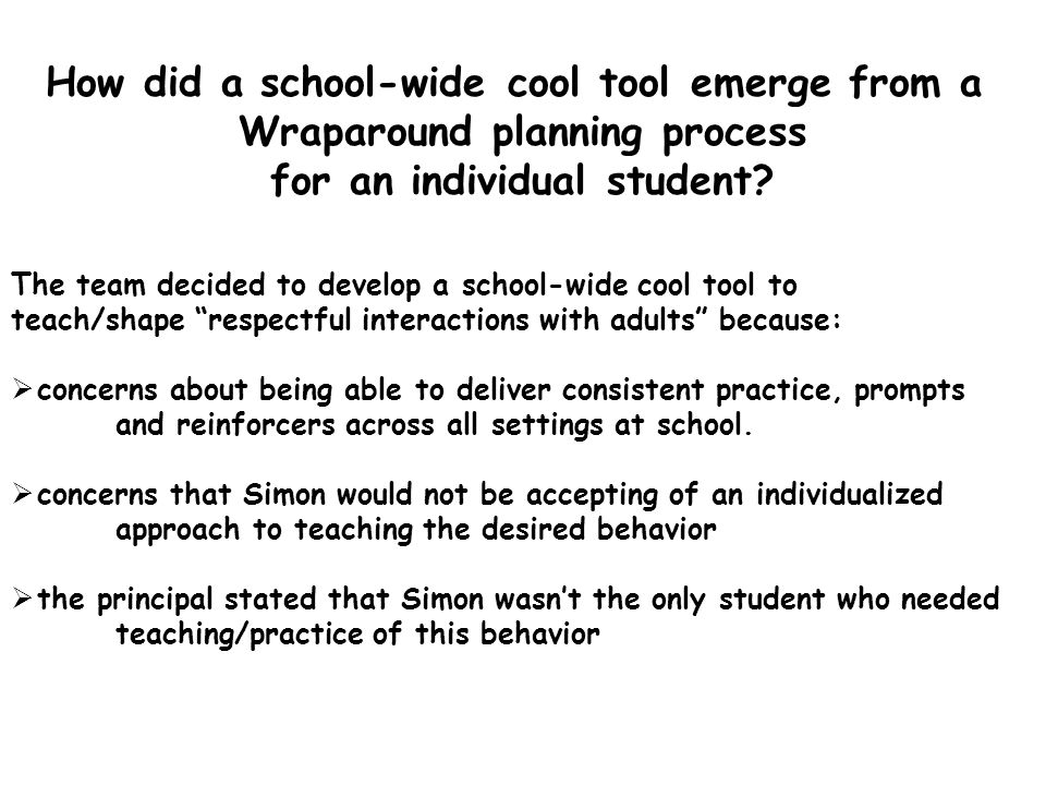 How did a school-wide cool tool emerge from a