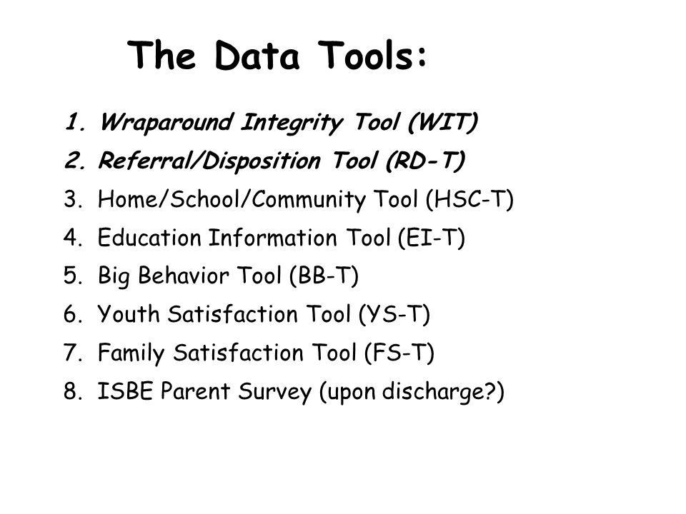 The Data Tools: Wraparound Integrity Tool (WIT)