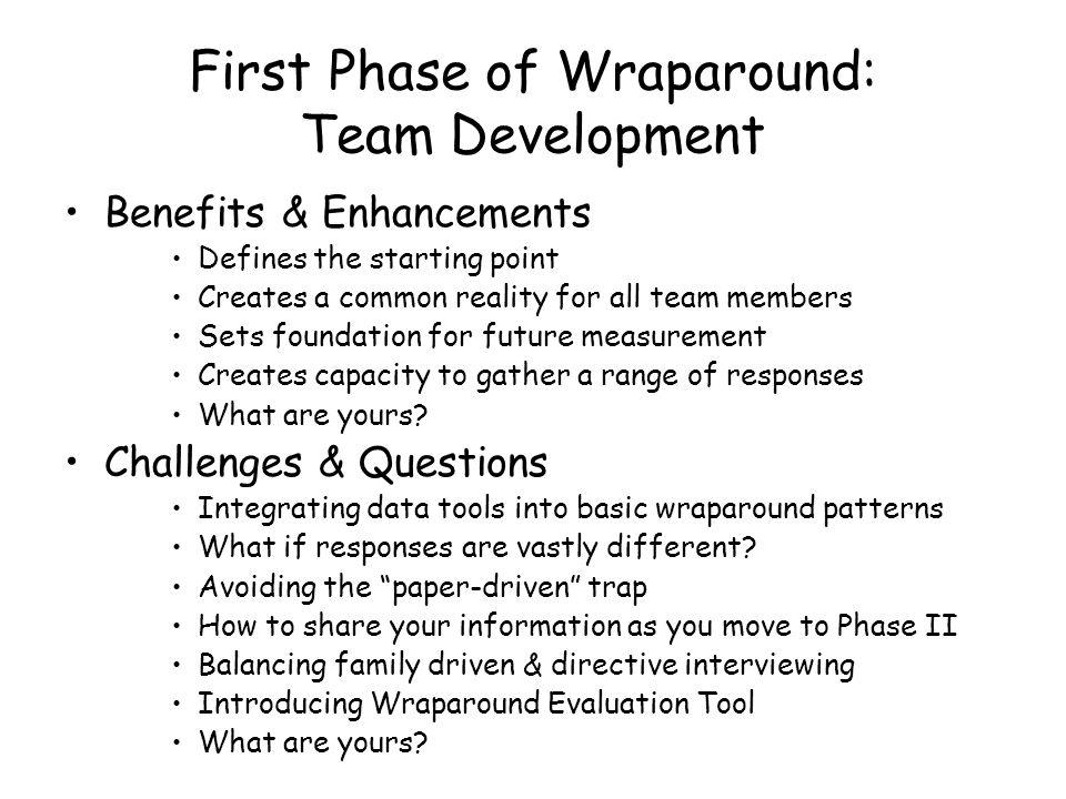 First Phase of Wraparound: Team Development