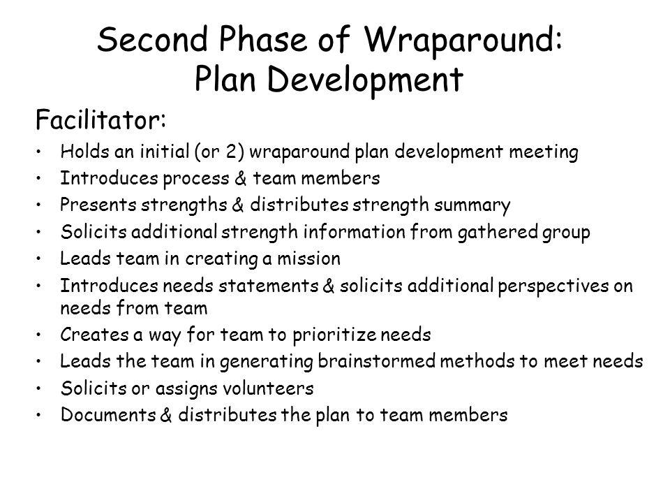 Second Phase of Wraparound: Plan Development