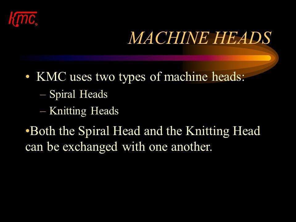 MACHINE HEADS KMC uses two types of machine heads: