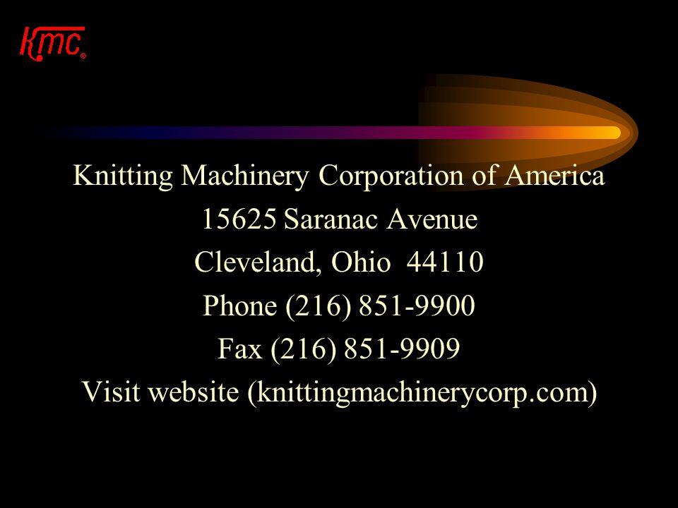 Knitting Machinery Corporation of America 15625 Saranac Avenue