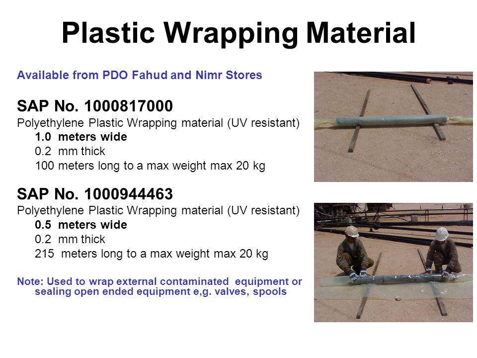 Plastic Wrapping Material