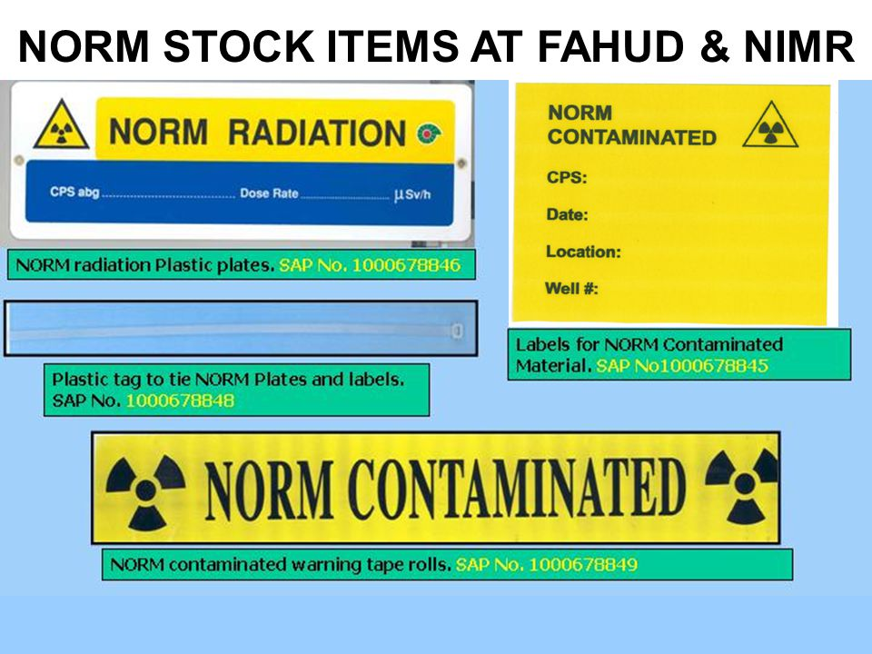NORM STOCK ITEMS AT FAHUD & NIMR