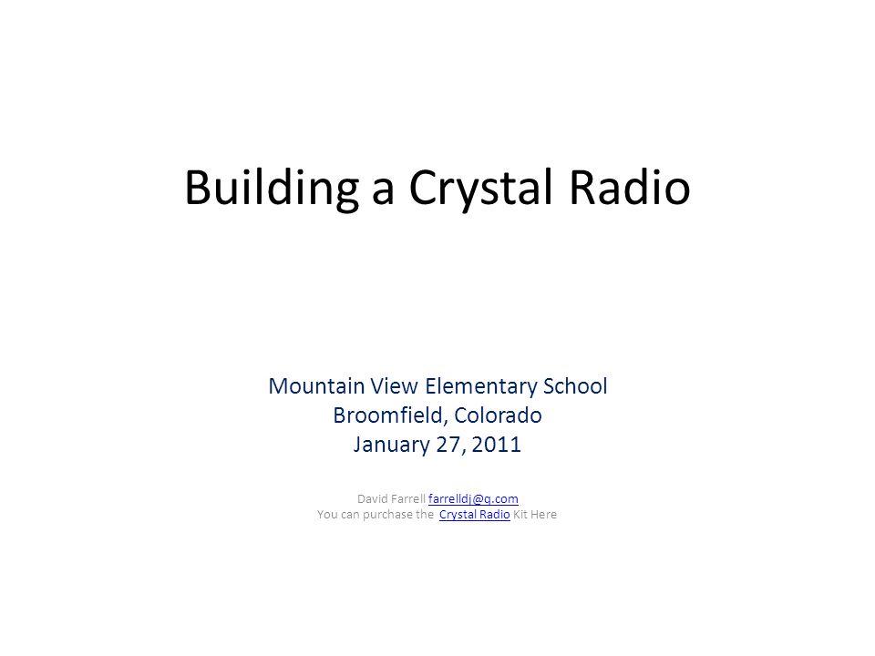 Building a Crystal Radio