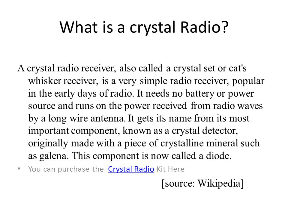 What is a crystal Radio