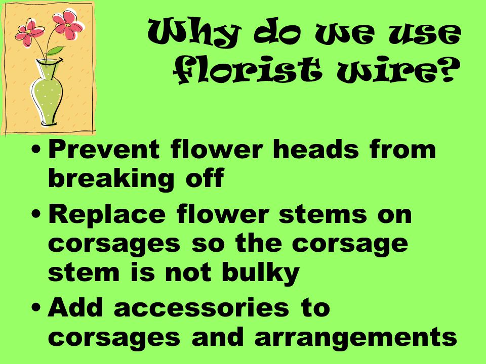 Why do we use florist wire