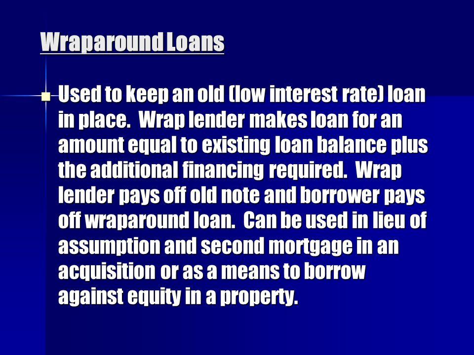 Wraparound Loans