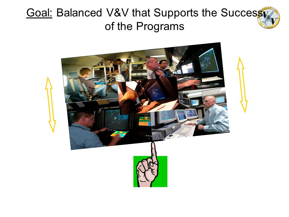 Goal: Balanced V&V that Supports the Success of the Programs