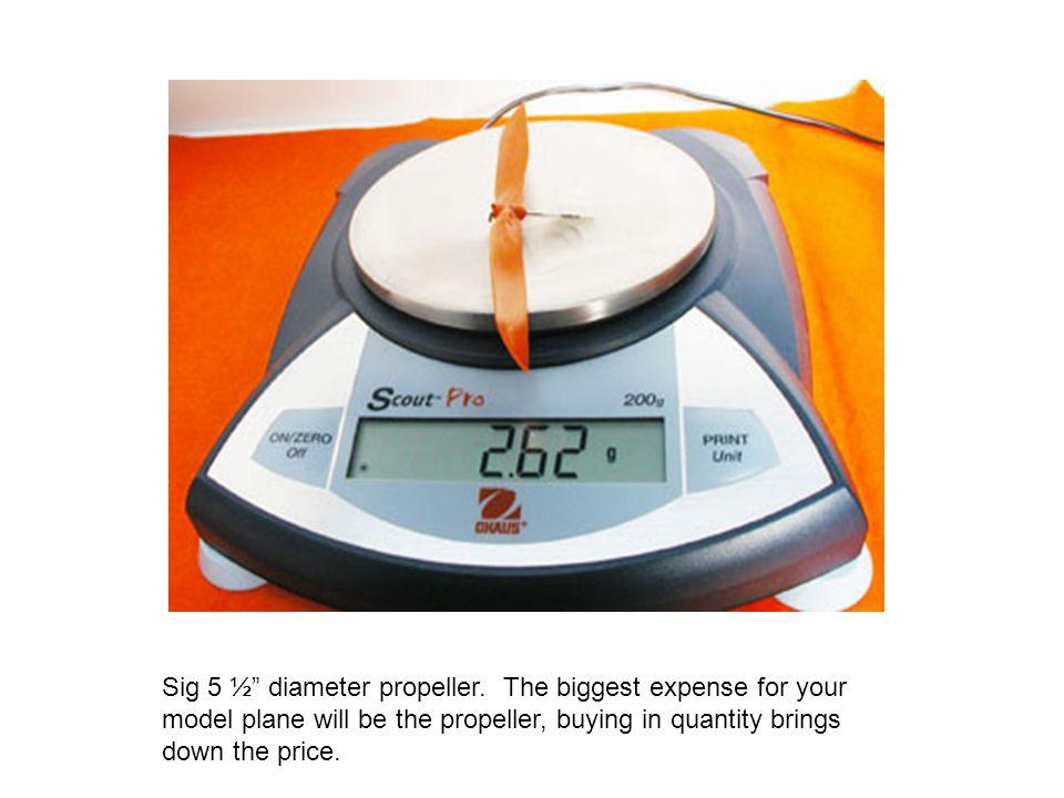 Sig 5 ½ diameter propeller