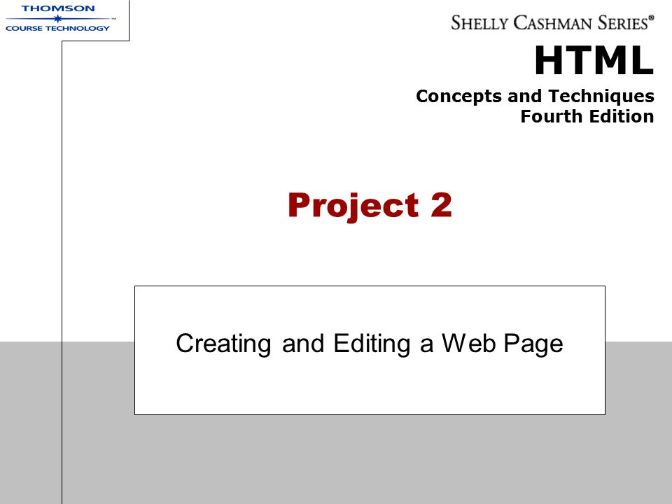 Creating and Editing a Web Page