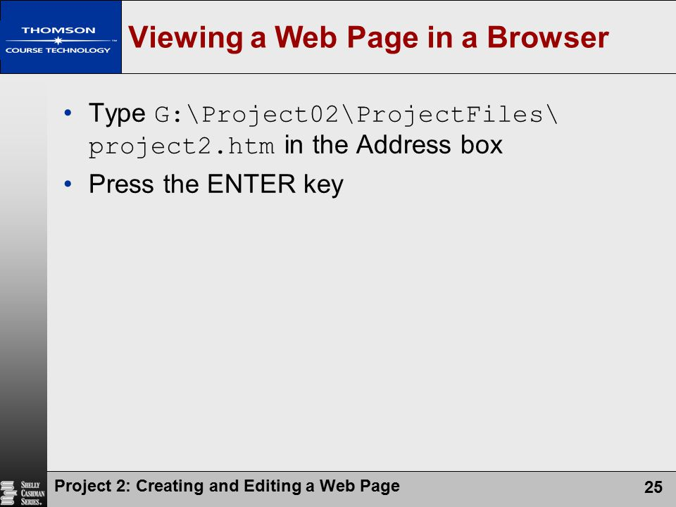 Viewing a Web Page in a Browser