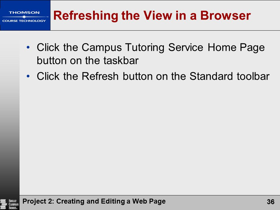 Refreshing the View in a Browser