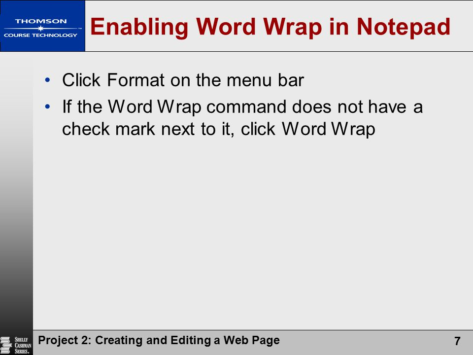 Enabling Word Wrap in Notepad