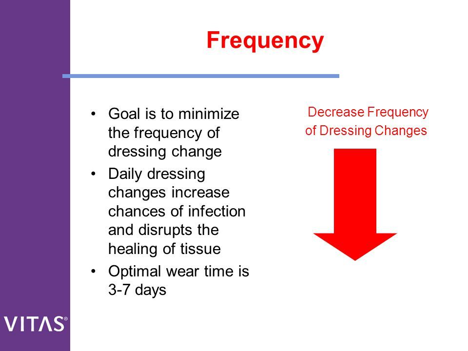 Frequency Goal is to minimize the frequency of dressing change