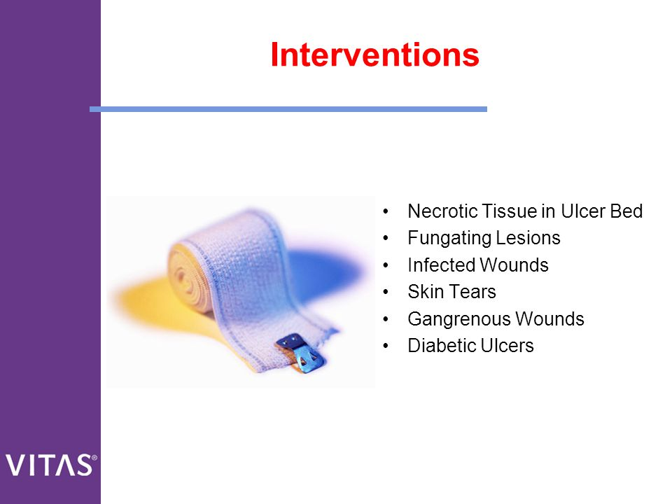Interventions Necrotic Tissue in Ulcer Bed Fungating Lesions