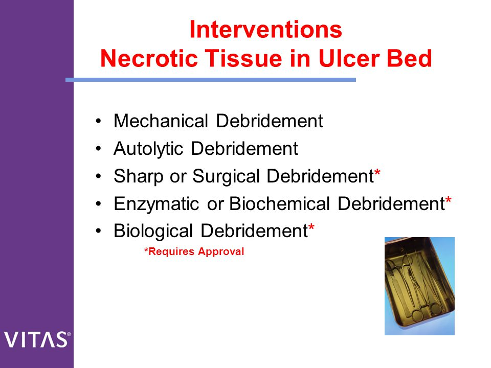 Interventions Necrotic Tissue in Ulcer Bed