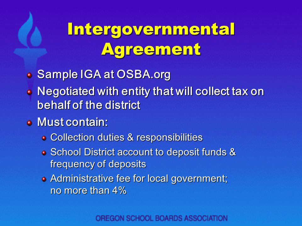 Intergovernmental Agreement