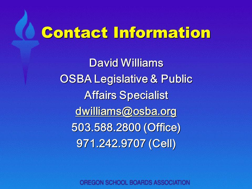 OSBA Legislative & Public