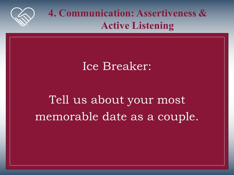 4. Communication: Assertiveness & Active Listening