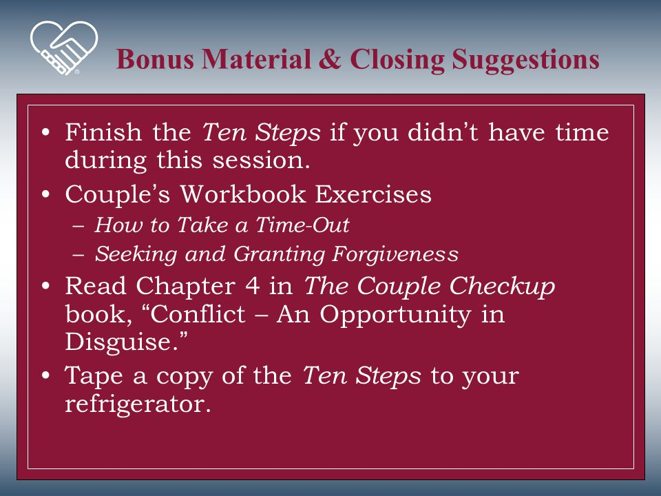 Bonus Material & Closing Suggestions
