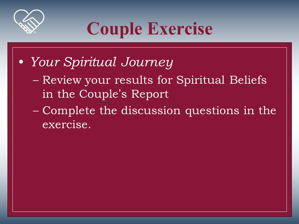 Couple Exercise Your Spiritual Journey