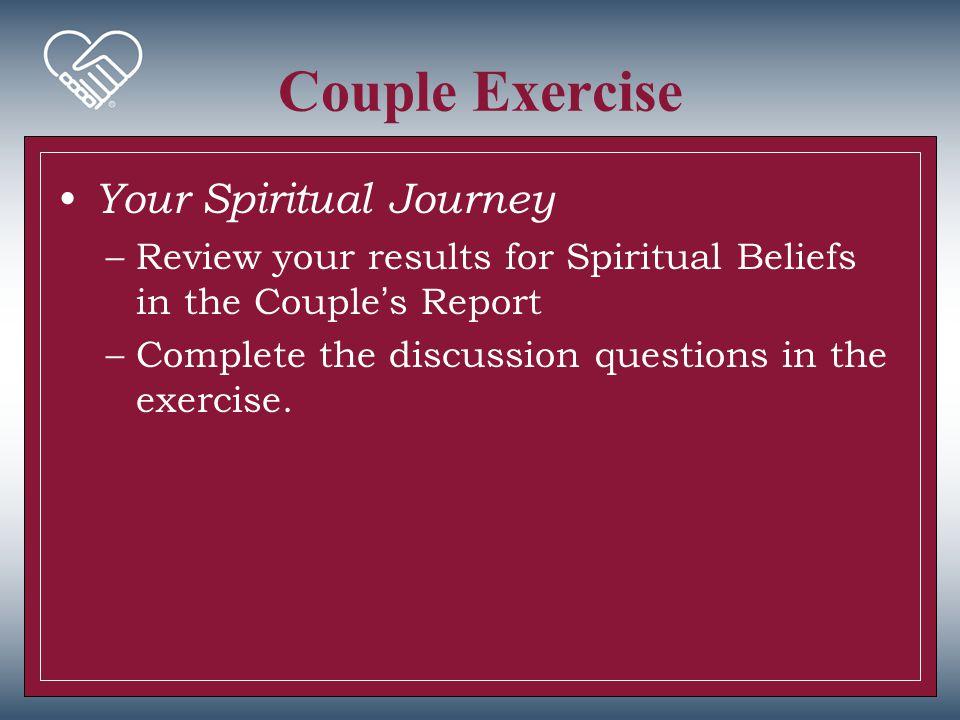 Couple Exercise Your Spiritual Journey