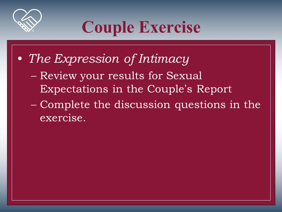 Couple Exercise The Expression of Intimacy