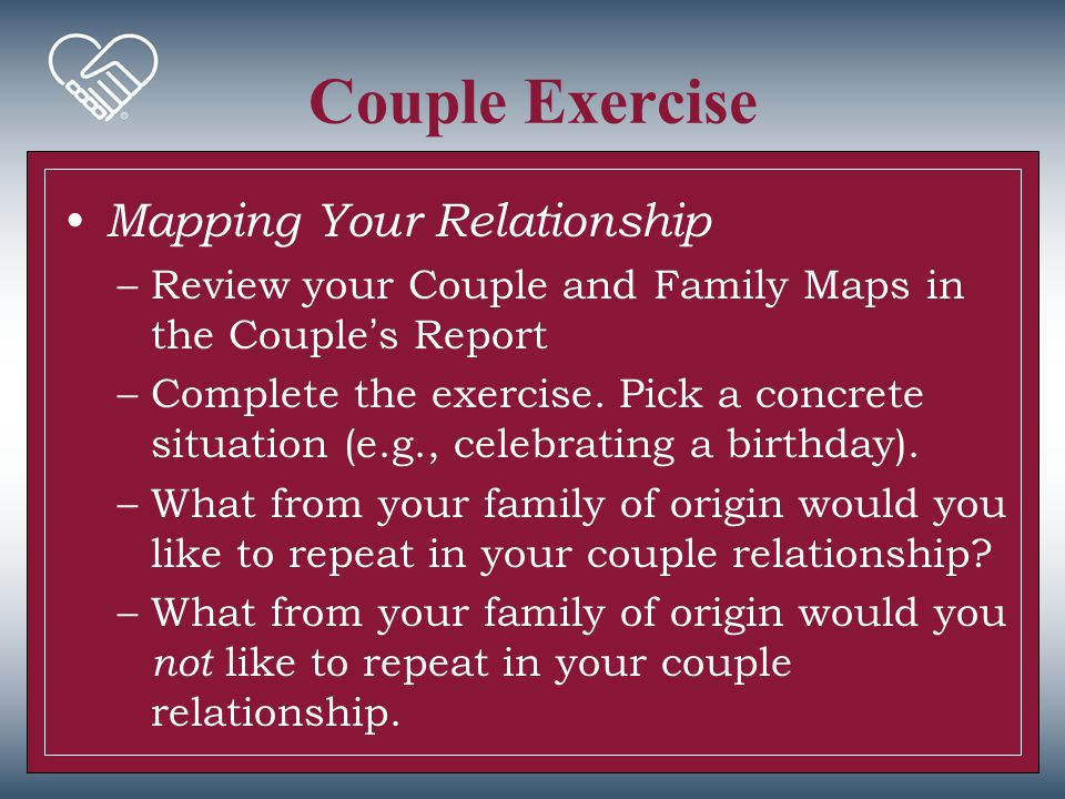 Couple Exercise Mapping Your Relationship