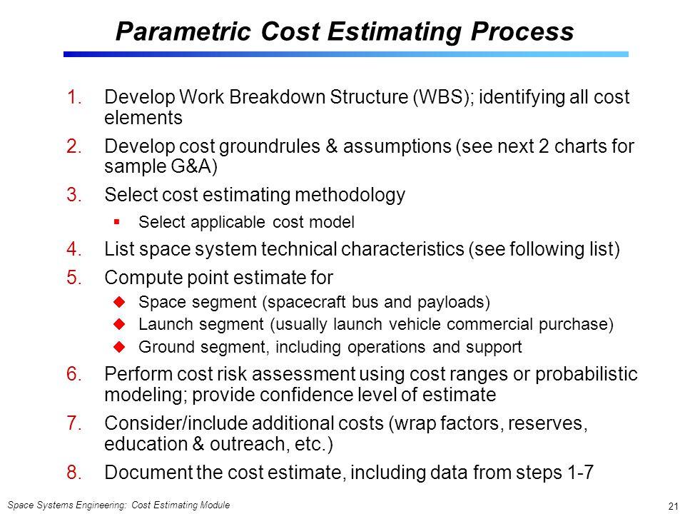 Parametric Cost Estimating Process