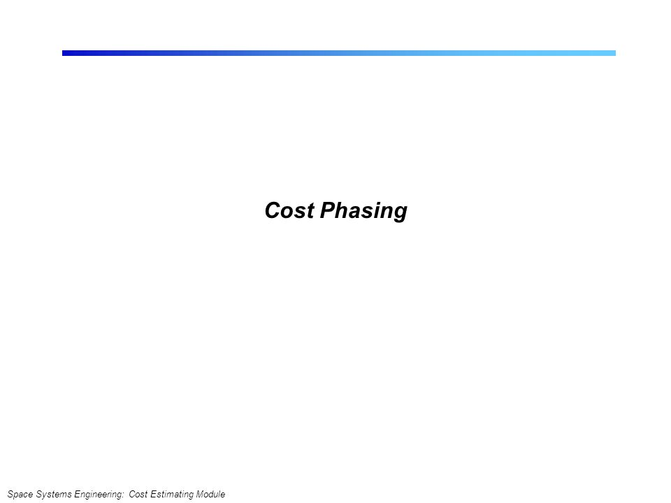 Cost Phasing