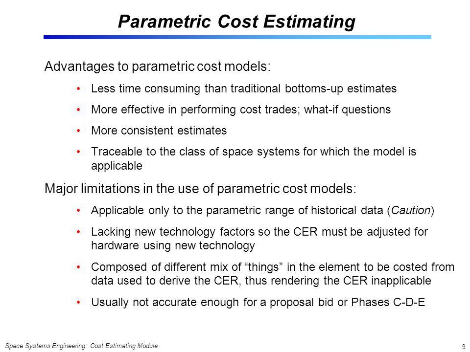 Parametric Cost Estimating