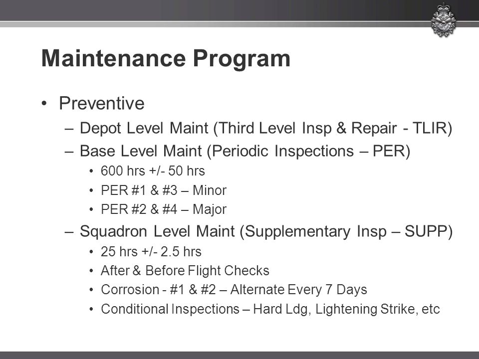 Maintenance Program Preventive
