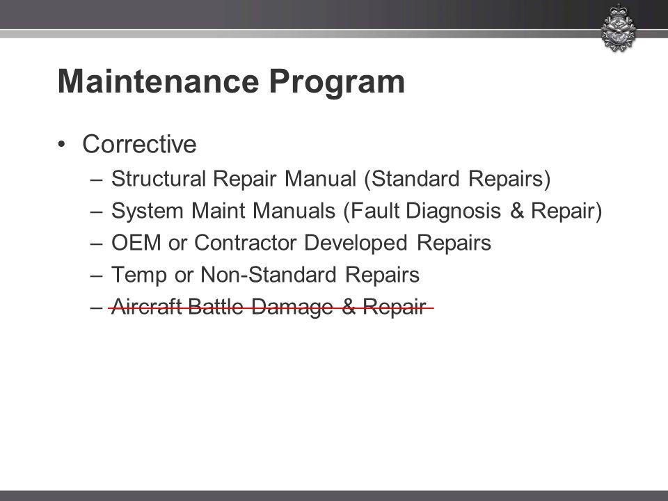 Maintenance Program Corrective