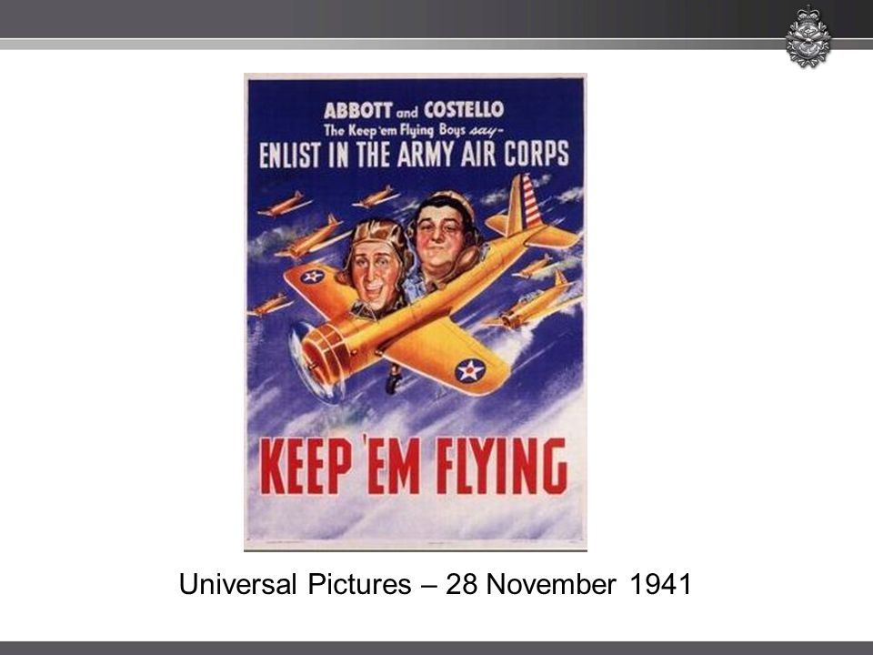 Universal Pictures – 28 November 1941