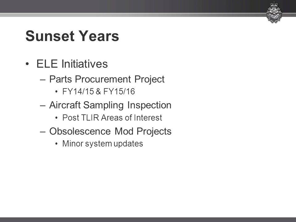 Sunset Years ELE Initiatives Parts Procurement Project