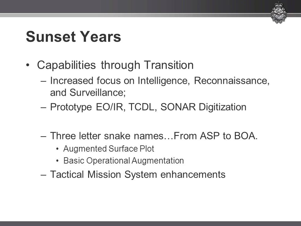 Sunset Years Capabilities through Transition