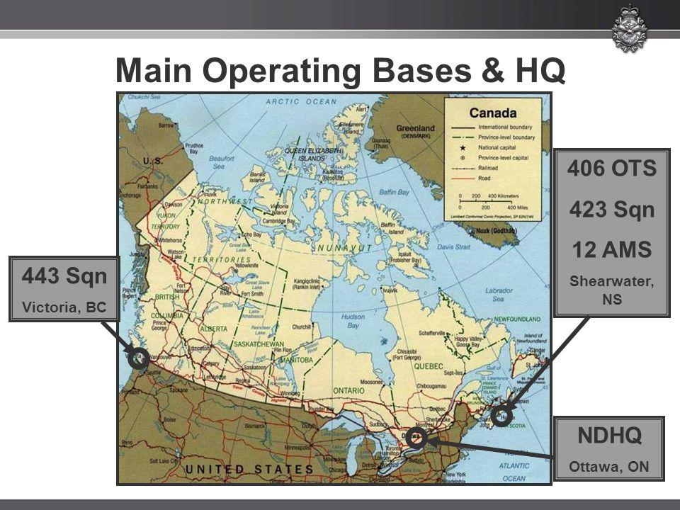 Main Operating Bases & HQ