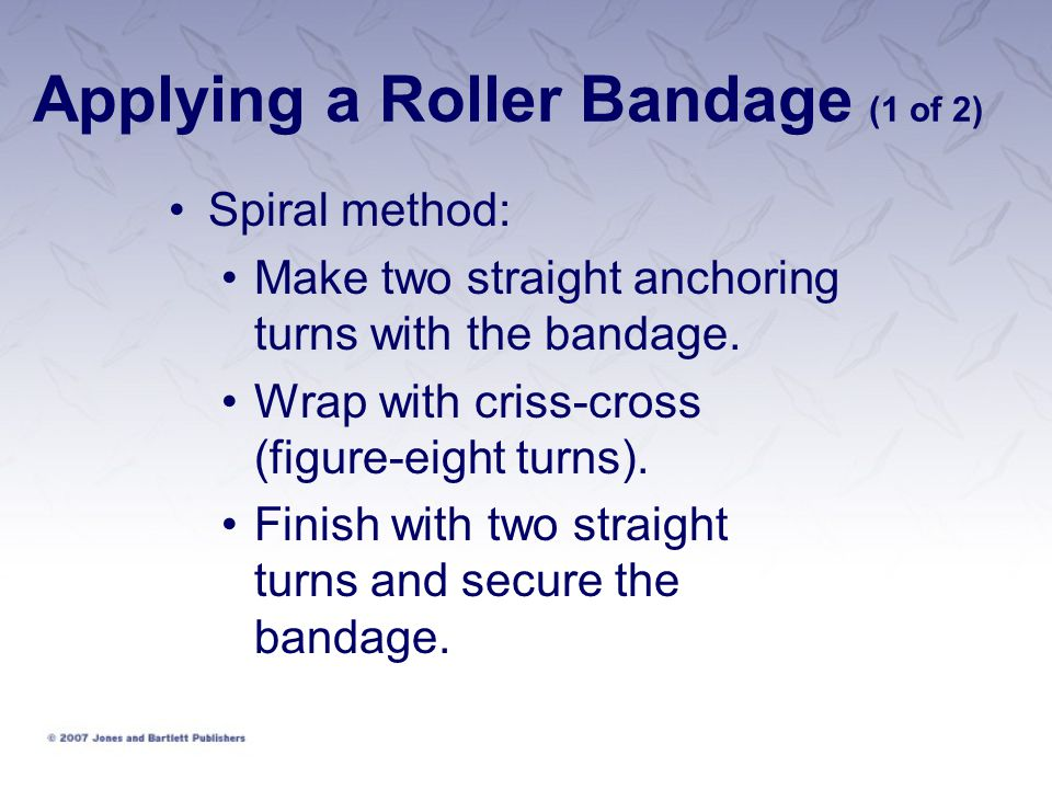 Applying a Roller Bandage (1 of 2)